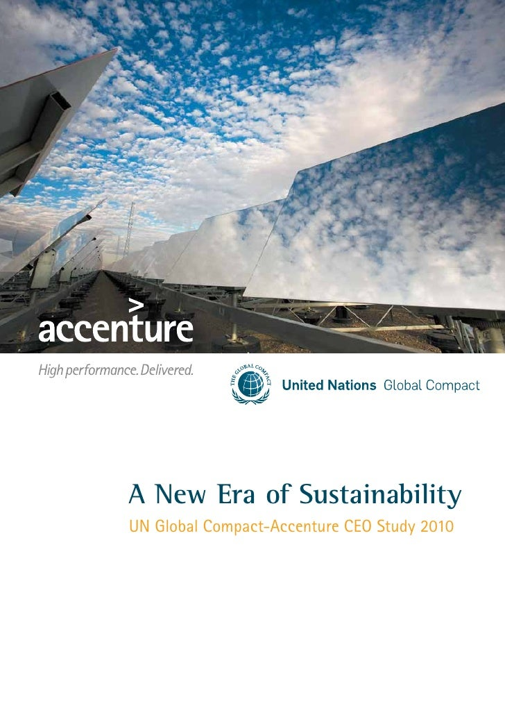 A New Era of Sustainability UN Global Compact-Accenture CEO Study 2010