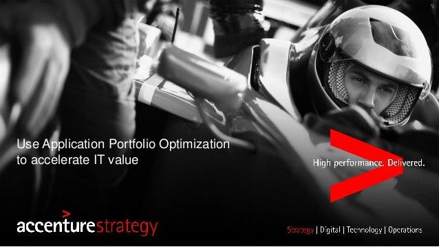 Use Application Portfolio Optimization to accelerate IT value