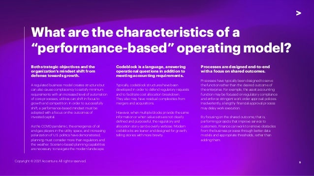 5 Both strategic objectives and the organization's mindset shift from defense towards growth. A regulated business model c...