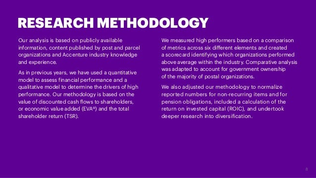 Our analysis is based on publicly available information,content published by post and parcel organizations and Accenture ...