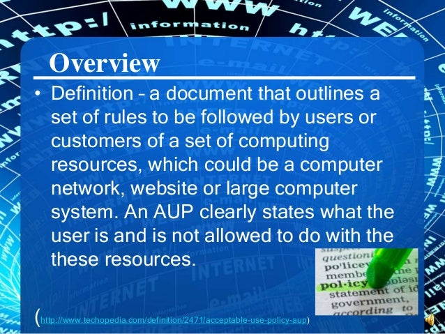 aup definition