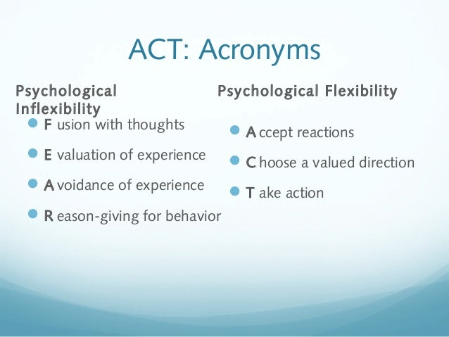 acceptance and commitment therapy  act   basics