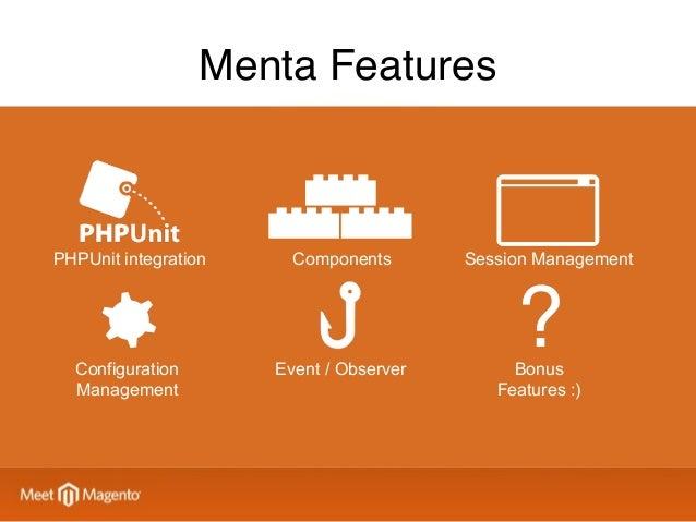 Component Libraries Projectspecific Magento (your library) Magento (community-provided) General (your library) Menta