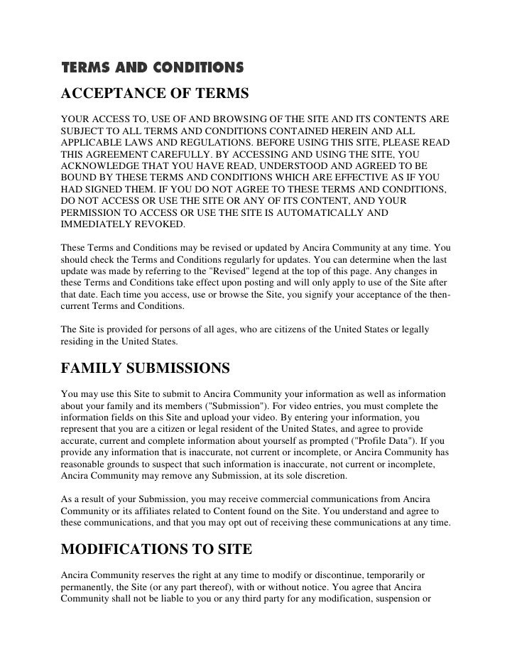 ACCEPTANCE OF TERMS YOUR ACCESS TO, USE OF AND BROWSING OF THE SITE AND ITS CONTENTS ARE SUBJECT TO ALL TERMS AND CONDITIO...