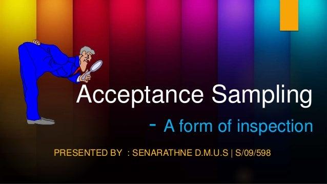 acceptance sampling definition
