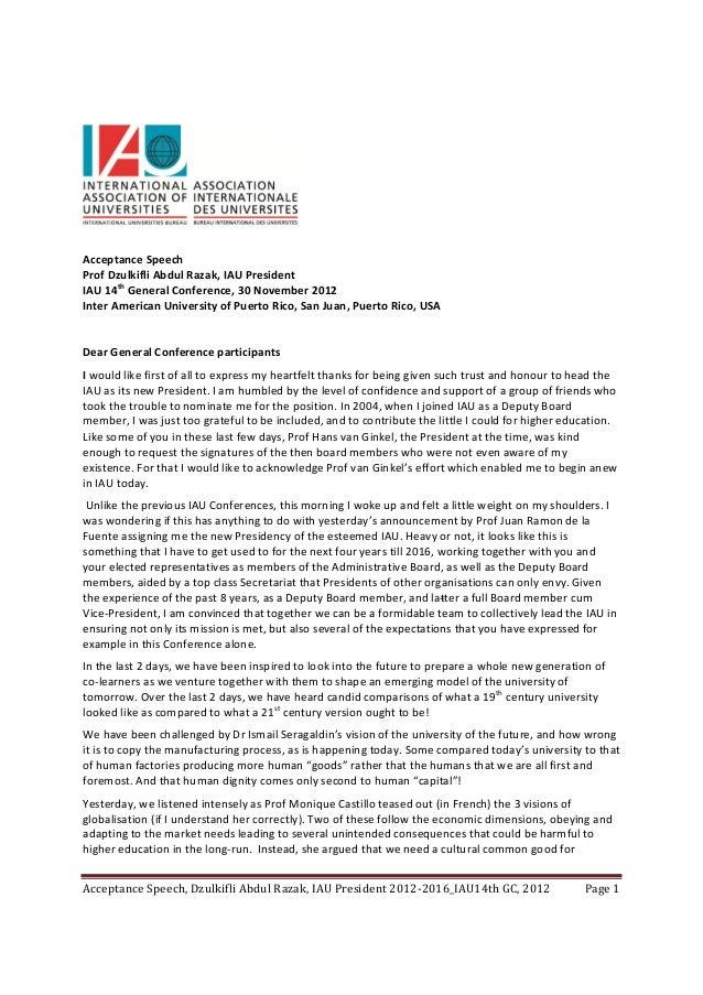 AcceptanceSpeechProfDzulkifliAbdulRazak,IAUPresidentIAU14thGeneralConference,30November2012InterAmeri...