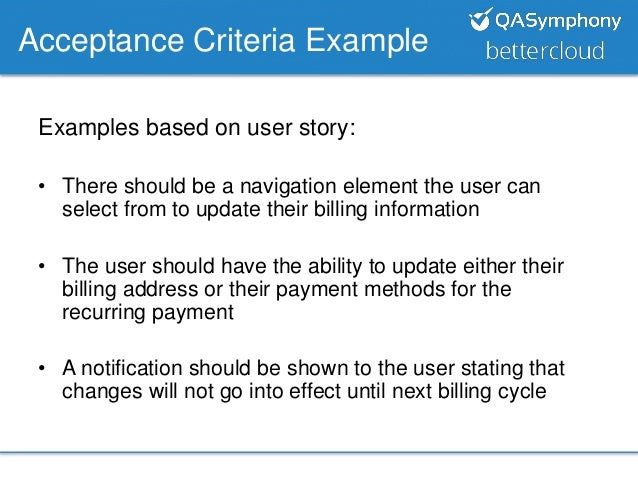 Great agile acceptance criteria template pictures agile for Agile acceptance criteria template