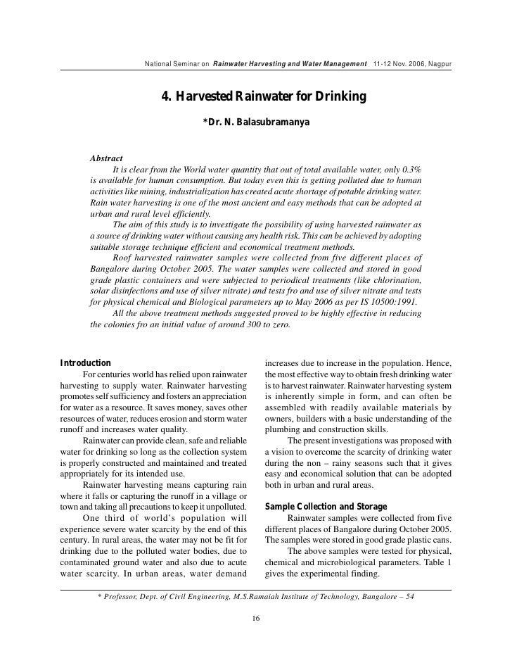 Essay on Rainwater Harvesting (400 Words)