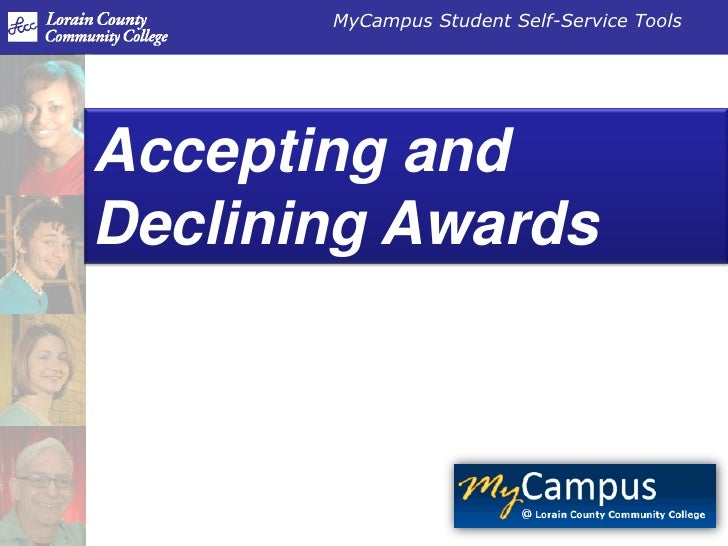 Accepting and Declining Awards<br />