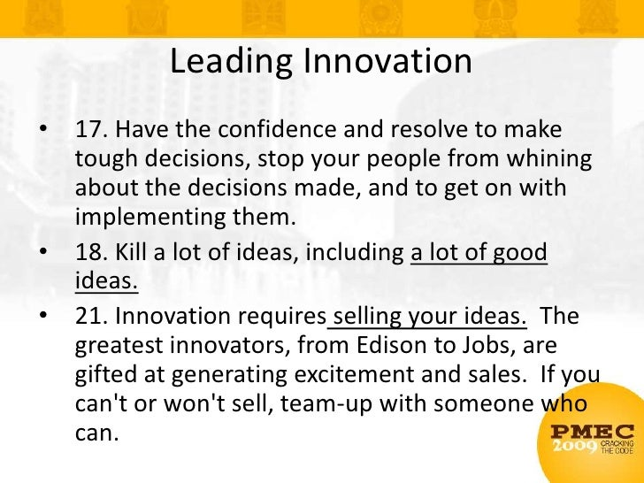 Product Innovation <br />Goal: Grow top line revenue (new products)<br />Obstacle: Disruptive innovations have high reward...