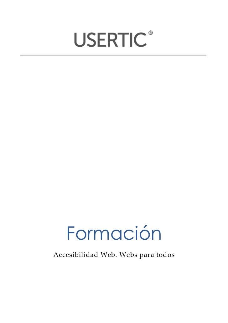 Formación     Accesibilidad Web. Webs para todos                                                   ...
