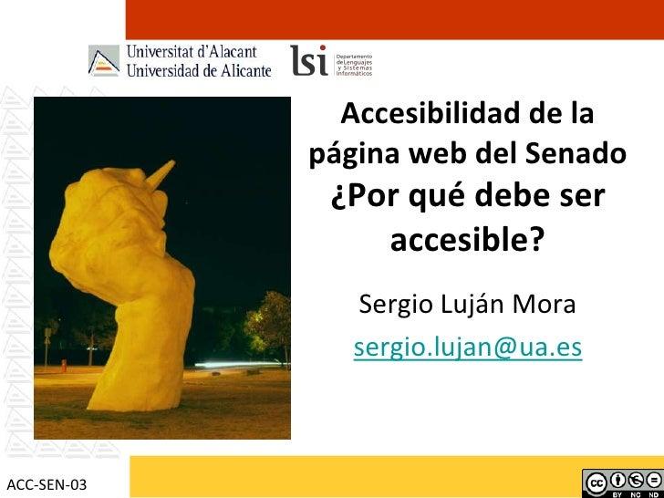 Accesibilidad de la página web del Senado de España: ¿Por qué debe ser accesible?