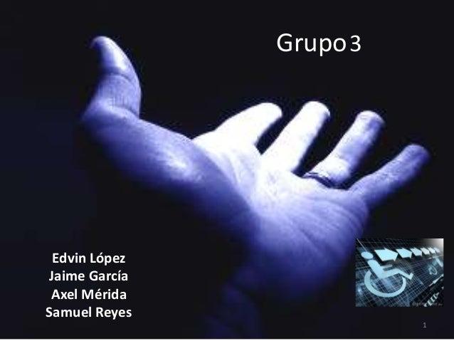 Grupo 3 Edvin LópezJaime García Axel MéridaSamuel Reyes                         1