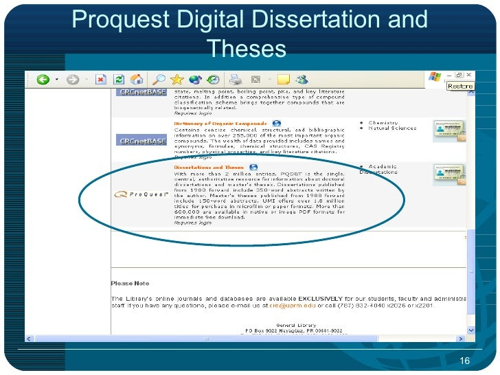 proquest dissertations and theses databases Proquest dissertations & theses (formerly known as digital dissertations)  to  search dissertations & theses @ cic institutions in the databases menu.