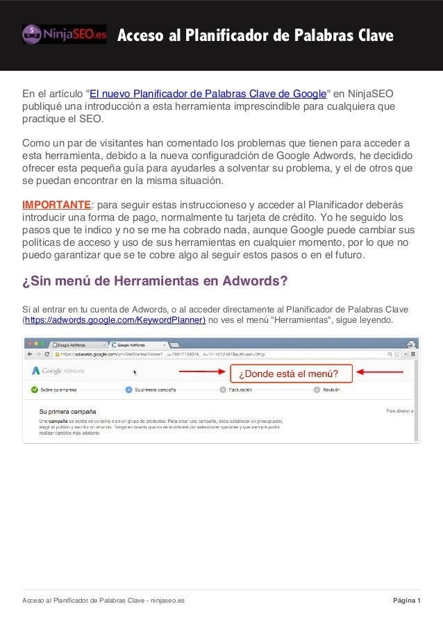 """En el artículo """"El nuevo Planificador de Palabras Clave de Google"""" en NinjaSEO publiqué una introducción a esta herramient..."""
