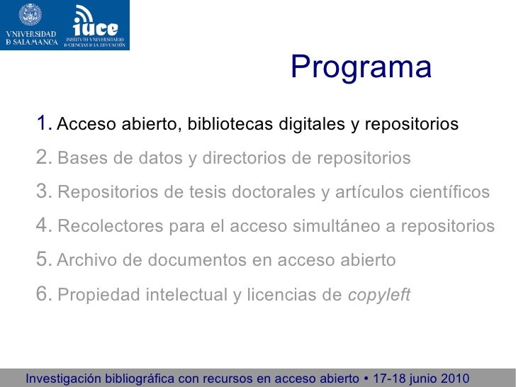Investigación bibliográfica con recursos en acceso abierto 2010 (1/5) Slide 3