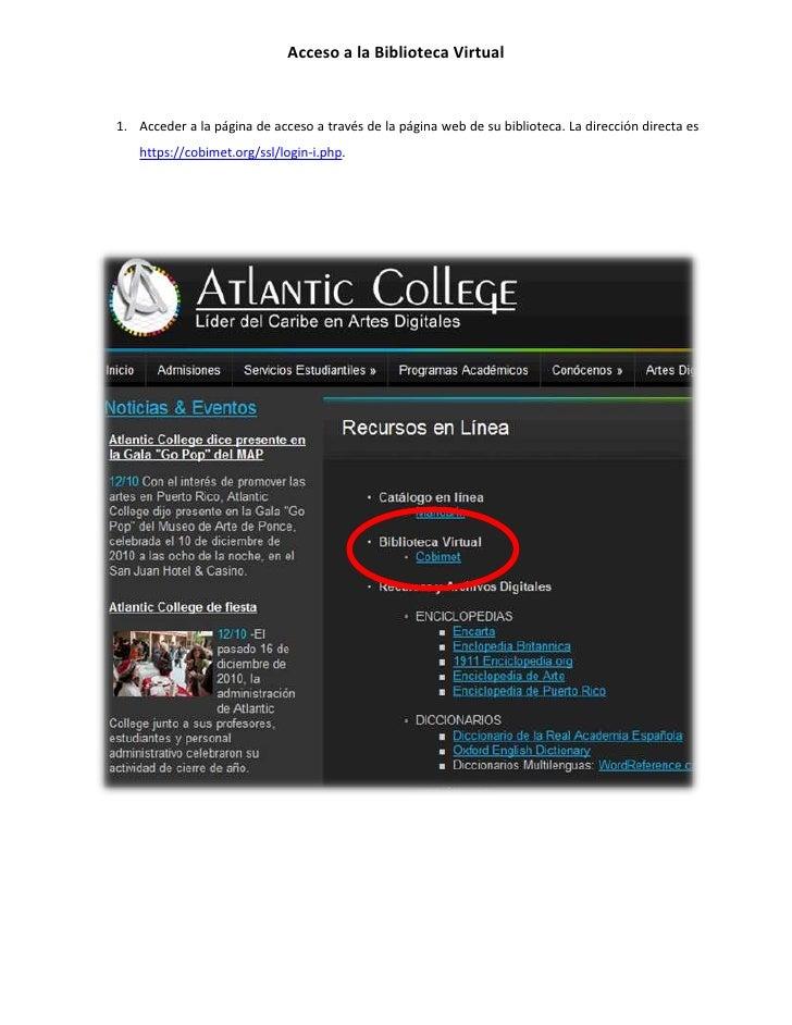 Acceso a la biblioteca virtual login institucional
