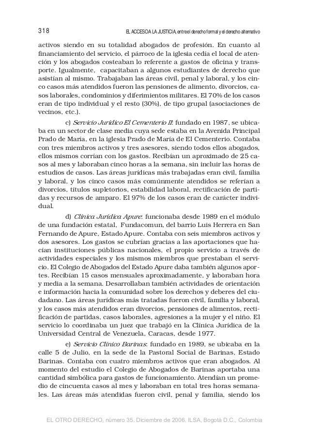 Acceso a la justicia y servicios jur dicos no estatales en venezuela - Pension de viudedad en caso de divorcio ...