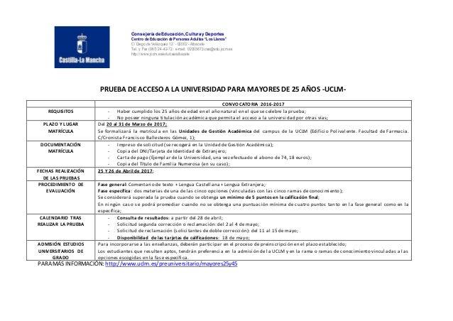 """Consejería de Educación, Cultura y Deportes Centro de Educación de Personas Adultas """"Los Llanos"""" C/ Diego de Velázquez 12 ..."""