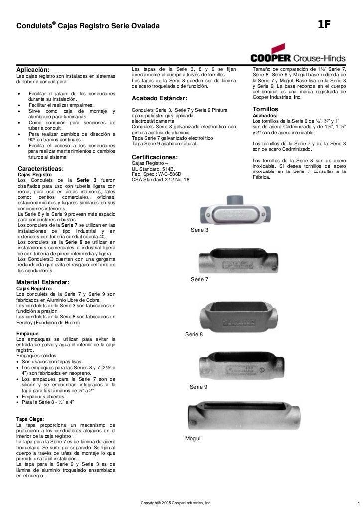 Condulets® Cajas Registro Serie Ovalada                                                                                   ...