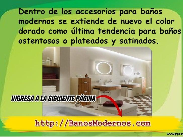 accesorios de baos modernos
