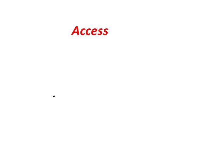 الأكسس  Access<br />هو برنامج يختص بقواعد البيانات بحيث يمكننا من وضع البيانات بطريقة سهله ومباشرة.<br />