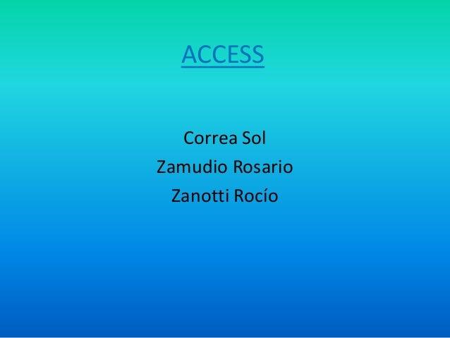 ACCESS Correa Sol Zamudio Rosario Zanotti Rocío