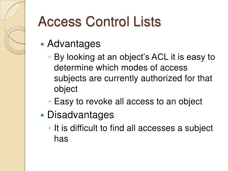 Access Control: Principles and Practice