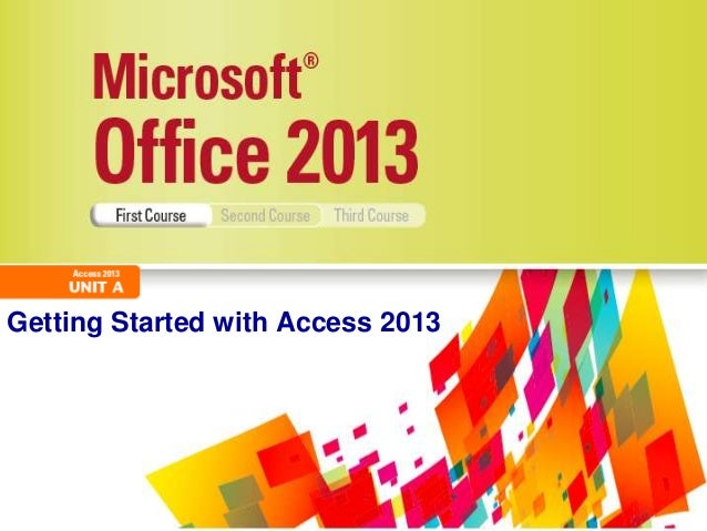 Getting Started with Access 2013