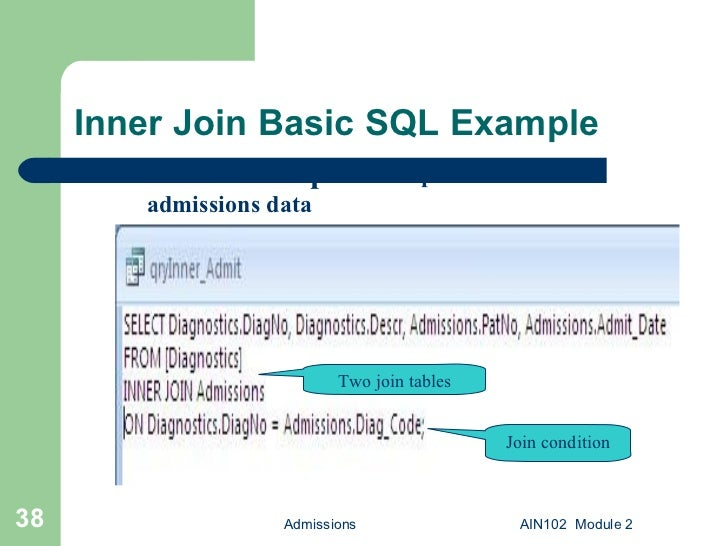 AIN102 2 Microsoft Access Queries