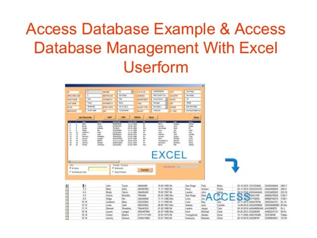 database examples access