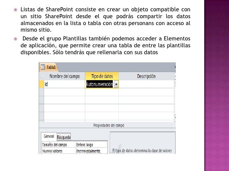    Listas de SharePoint consiste en crear un objeto compatible con    un sitio SharePoint desde el que podrás compartir l...