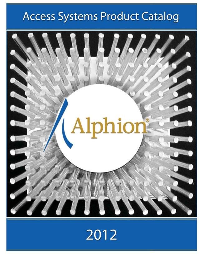 Table of ContentsAbout Alphion                                                                                            ...