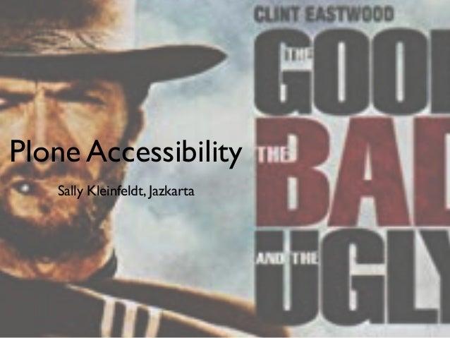 Plone Accessibility Sally Kleinfeldt, Jazkarta