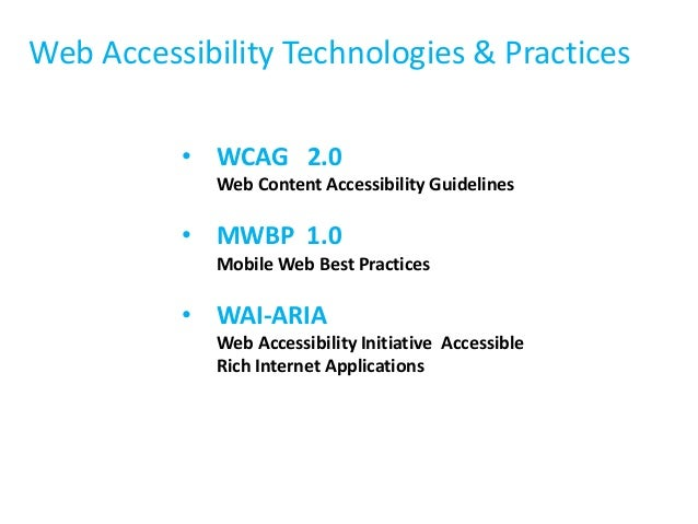 accessibility and usability web technologies Office of information technology (oit) web accessibility and usability policy i  statement of policy it shall be the policy of the state of maine.