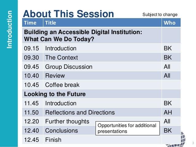 Building an Accessible Digital Institution Slide 3