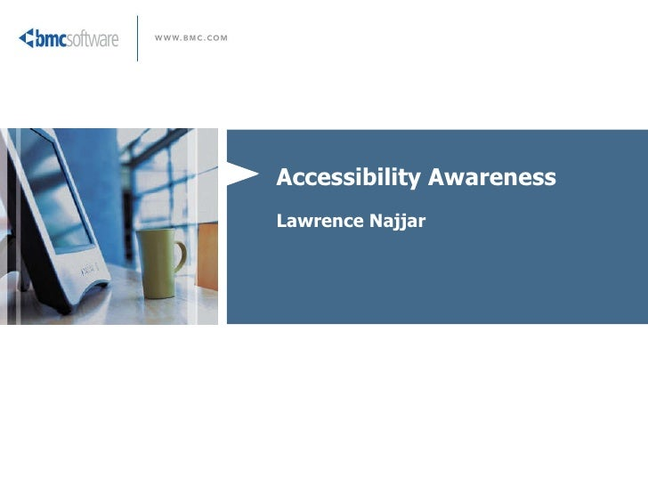 Accessibility Awareness Lawrence Najjar