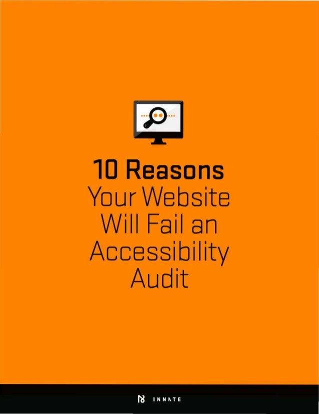 10 Reasons   Your Website   Will Fail an   AccessibiIity   Audit   hi INN~TE