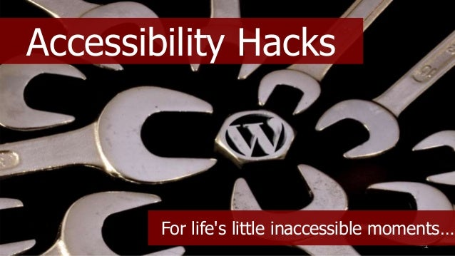 @coolfields1 Accessibility Hacks For life's little inaccessible moments…