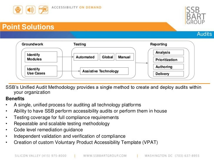 voluntary product accessibility template section 508 - ssb bart group accessibility overview 2012