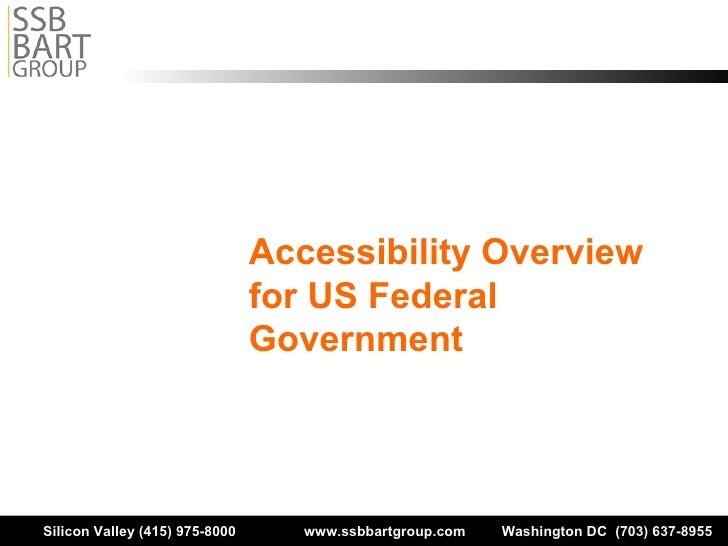 Accessibility Overview for US Federal Government