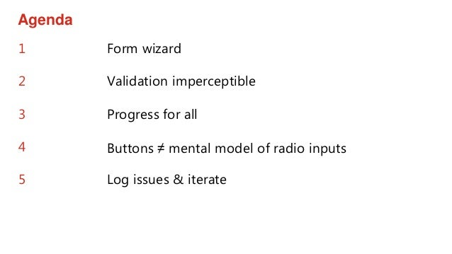 Accessibility testing a multi-channel form wizard Slide 2
