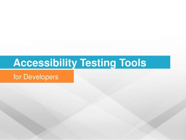 Accessibility Testing Tools for Developers