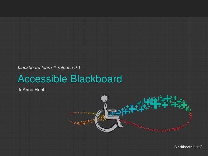 Accessible Blackboard