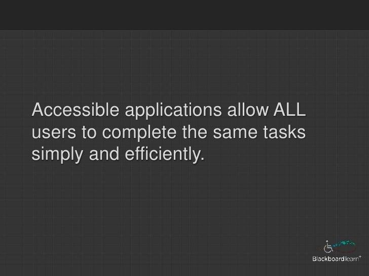Accessible Blackboard Part 1 Slide 3