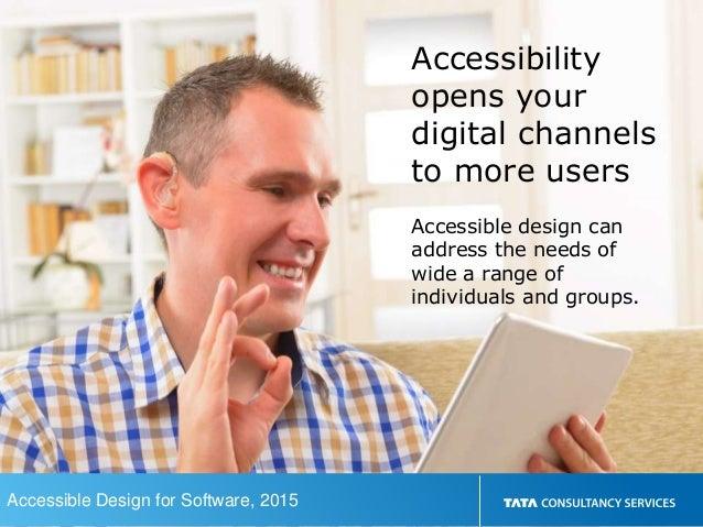Accessible design for software Slide 2