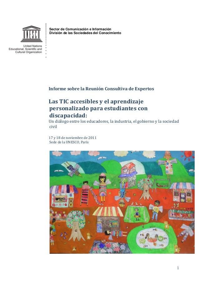 1 Sector de Comunicación e Información División de las Sociedades del Conocimiento Informe sobre la Reunión Consultiva de ...
