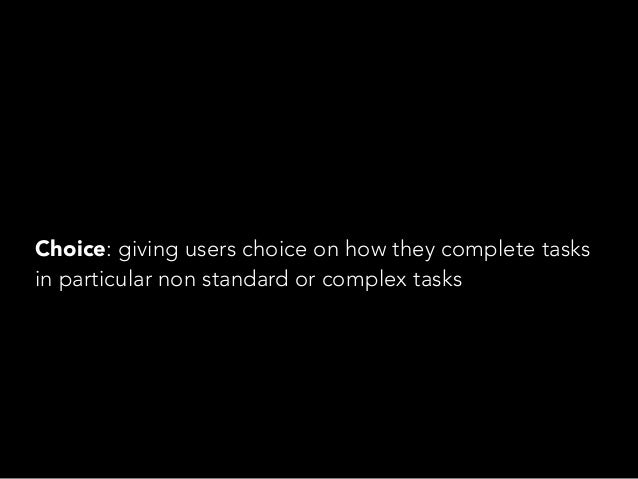Control: giving users control over how, and when, they receive content.