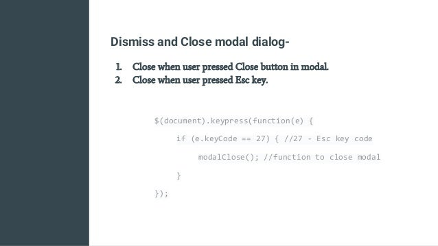 Making modal dialogs accessible