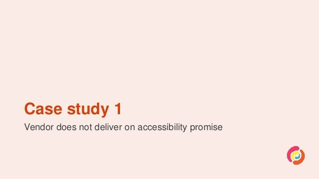 Accessible procurement: Stories from the trenches Slide 3